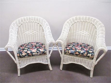 LOT OF 2 WICKER CHAIRS