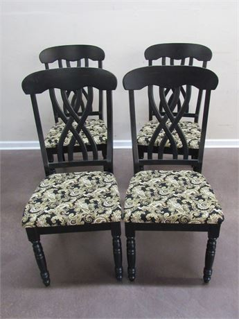 4 NICE BLACK FINISHED DINING CHAIRS