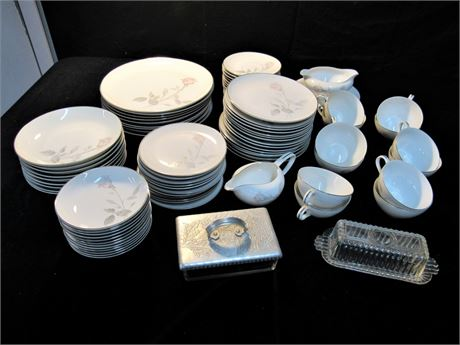 Vintage AS Japan French Rose Fine Imported China - 83 Pieces