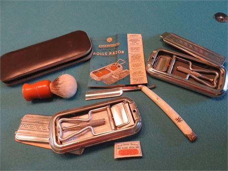 Vintage Rolls Razor Shaving Kits