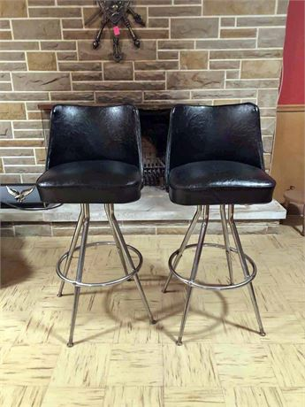 Mid Century Lask Woodworking Co. Bar Stools