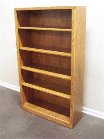 OAK DISPLAY/BOOKCASE - 4 SHELVES