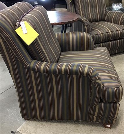 Chair Upholstered Stripe 1 of a Pair