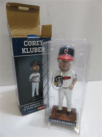 2014 Cleveland Indians COREY KLUBER Cy Young Bobblehead