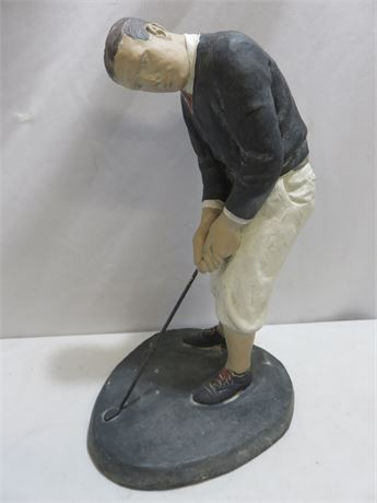 "1983 AUSTIN PRODUCTIONS ""On The Green"" Golfer Statue"