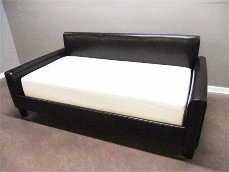 IKEA BLACK VEGAN LEATHER DAYBED