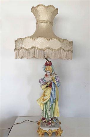 Italian Porcelain Capodimonte Lamp