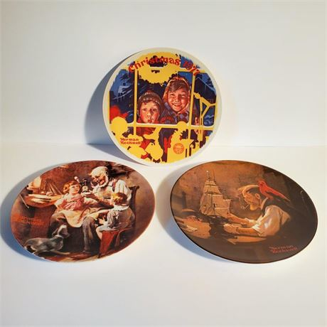 Knowles Norman Rockwell Plates