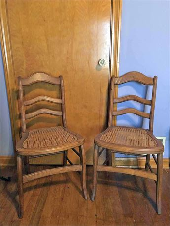Vintage Cane Set Chairs
