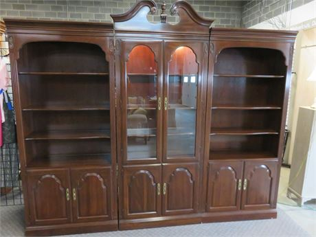3-Piece Chippendale Bookcase Wall Unit