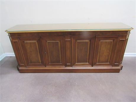 BAKER FURNITURE BUFFET WITH PROTECTIVE GLASS TOP