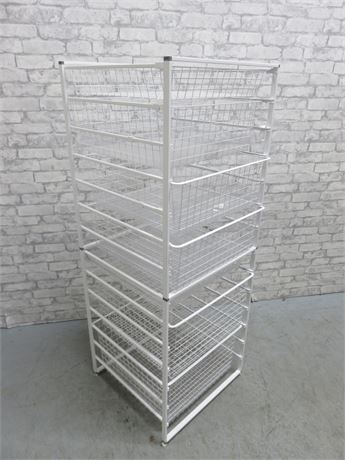 ORGANIZED LIVING Metal Wire Mesh 7-Drawer Storage Tower Rack