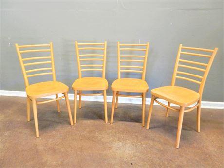 Wood Chairs Set (4)