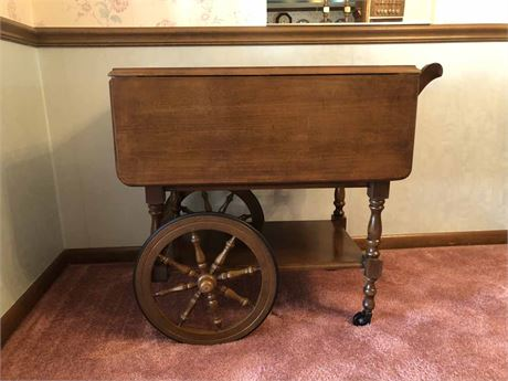 Vintage Drop Leaf Tea Cart