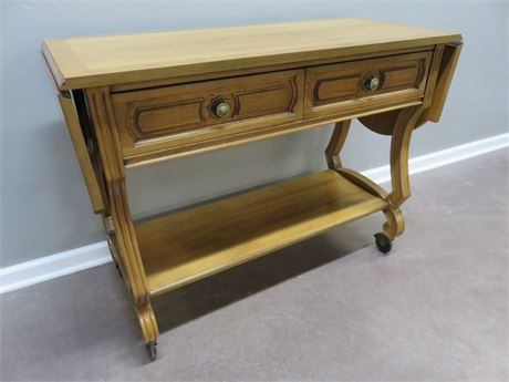 THOMASVILLE Asian Style Dropleaf Buffet Cart