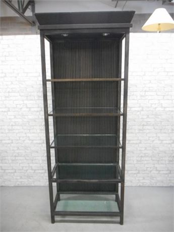HEAVY DUTY INDUSTRIAL STYLE METAL DISPLAY CASE