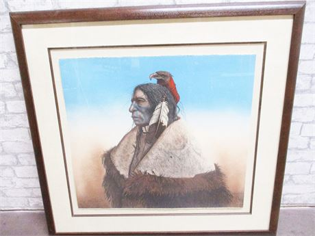 """EAGLE MEDICINE"" BY MARK ROHRIG, LIMITED EDITION LITHOGRAPH, #5/100, SIGNED"