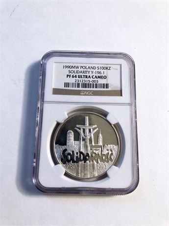Poland Silver Solidarity Ultra Cameo Coin