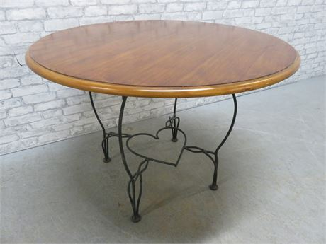 Wrought Iron Heart Base Table