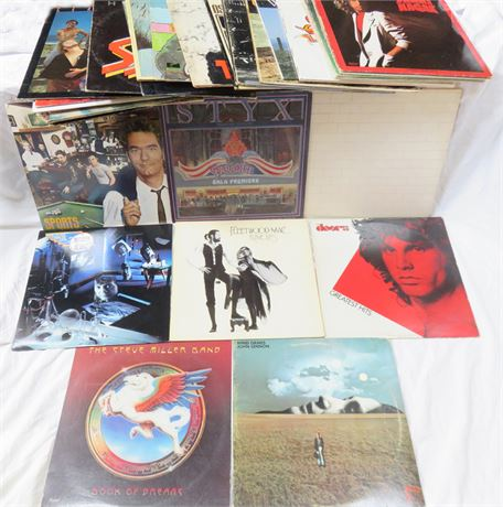 32 Vintage Classic Rock/Pop Record Albums