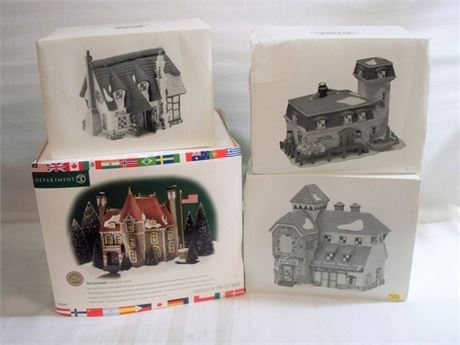 4 PIECE DEPT56 HERITAGE VILLAGE COLLECTION LOT