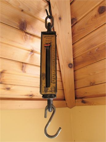 Vintage Chatillion 100lbs. Hanging Scale