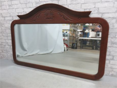 Large Beveled Glass Wall Mirror