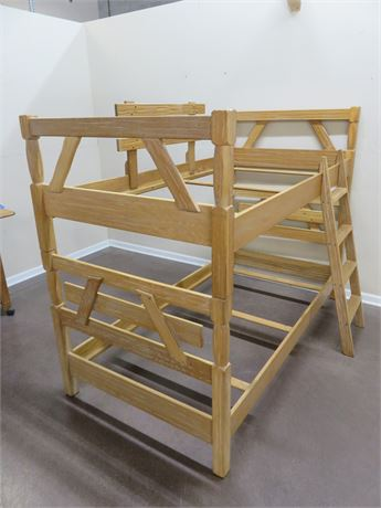 BRANDT Ranch Oak Western Bunk Bed
