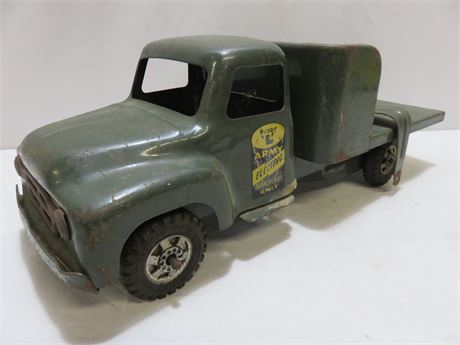 Vintage 1950s BUDDY L Army Electric Searchlight Unit Truck