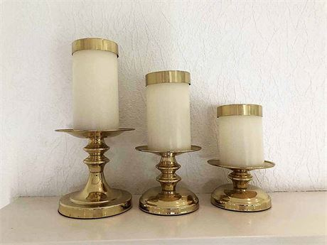 Gold Candle Holders W/Followers