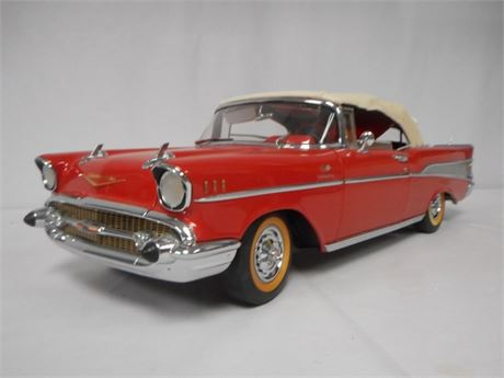 INCREDIBLE DANBURY MINT 1:12 SCALE 1957 CHEVY BEL AIR CONVERITIBLE W/ BOX #2497