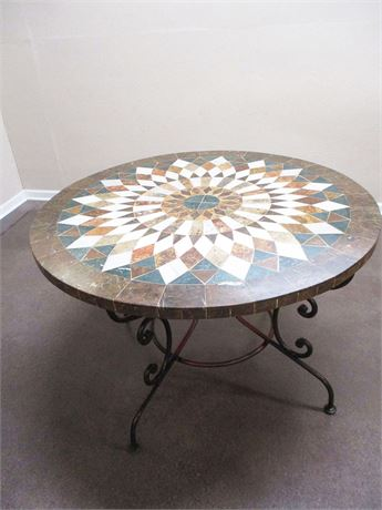 MARBLE MOSAIC TABLE