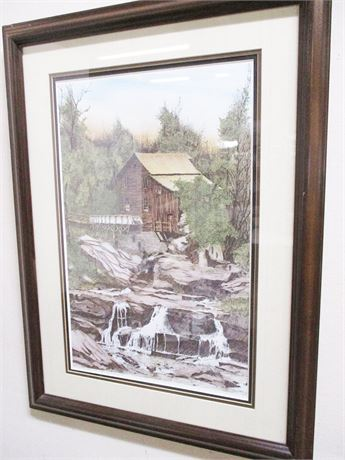LONNIE C. BLACKLEY GRIST MILL PRINT #194/250, SIGNED BY THE ARTIST