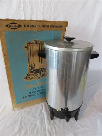 WEST BEND 36-Cup Aluminum Automatic Coffee Maker