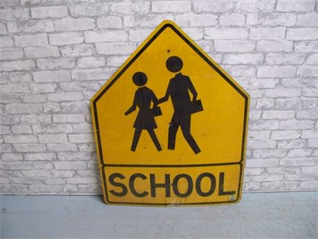 VINTAGE SCHOOL CROSSING SIGN