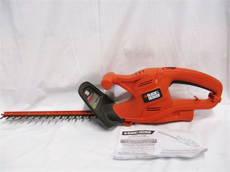 "BLACK & DECKER 16"" ELECTRIC HEDGE TRIMMER"