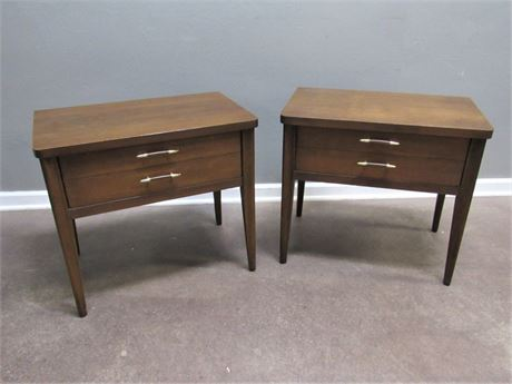 Two or is it Too Desirable Mid Century Modern Broyhill Premier Saga Nightstands