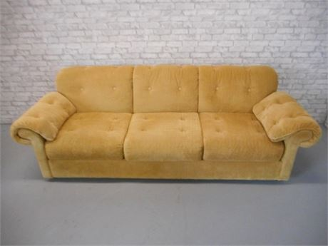 NICE FLEXSTEEL CORDUROY SOFA WITH ARM PROTECTORS