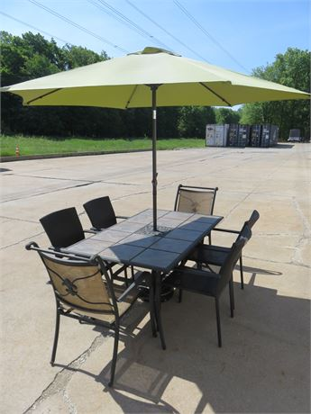 Tile Top Patio Dining Set