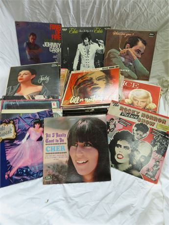 Over 75 Vintage Record Albums
