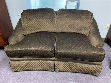 Signatures by Chez-Del Chocolate Brown Love Seat  with Blue Enhancement