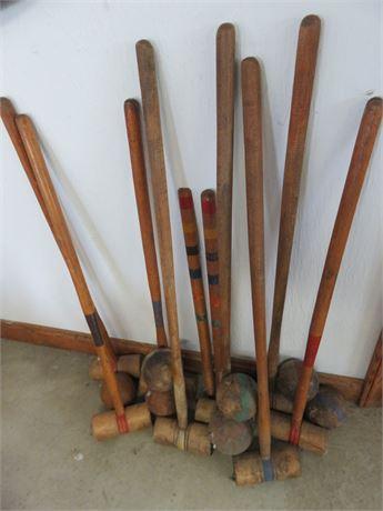 Vintage Croquet Lot