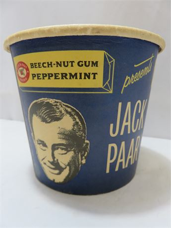 Vintage 1950s JACK PAAR Beech-Nut Chewing Gum Display Tub