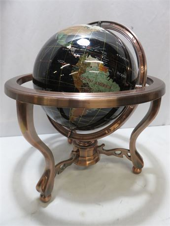 Blue Lapis Gemstone World Globe