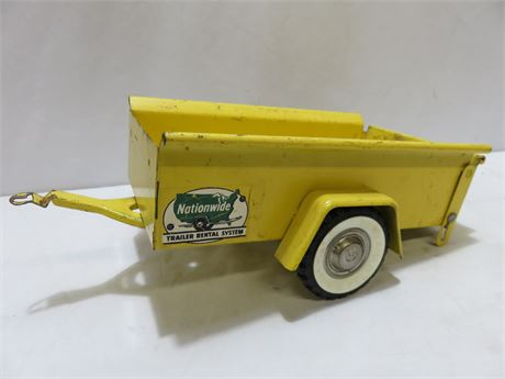 Vintage 1950s STRUCTO Nationwide Rental Utility Trailer