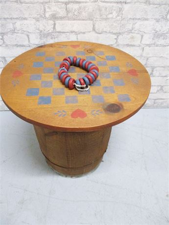 SWEET BARREL CHECKERS GAME