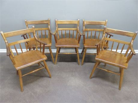 SIKES Wooden Arm Chairs