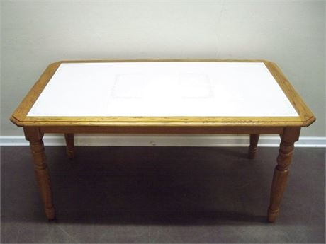 OAK TILE TOP DINETTE TABLE