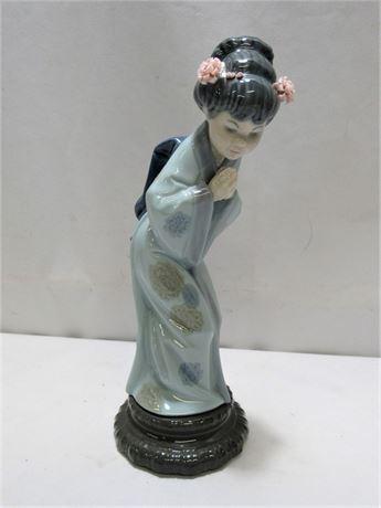 Lladro Japanese Geisha Sayonara Figurine