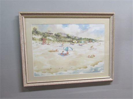 Framed Matted Signed Numbered (#531/1000) Josiah Everett Draper Watercolor Print